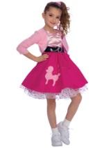 Girls Poodle Skirt Costume