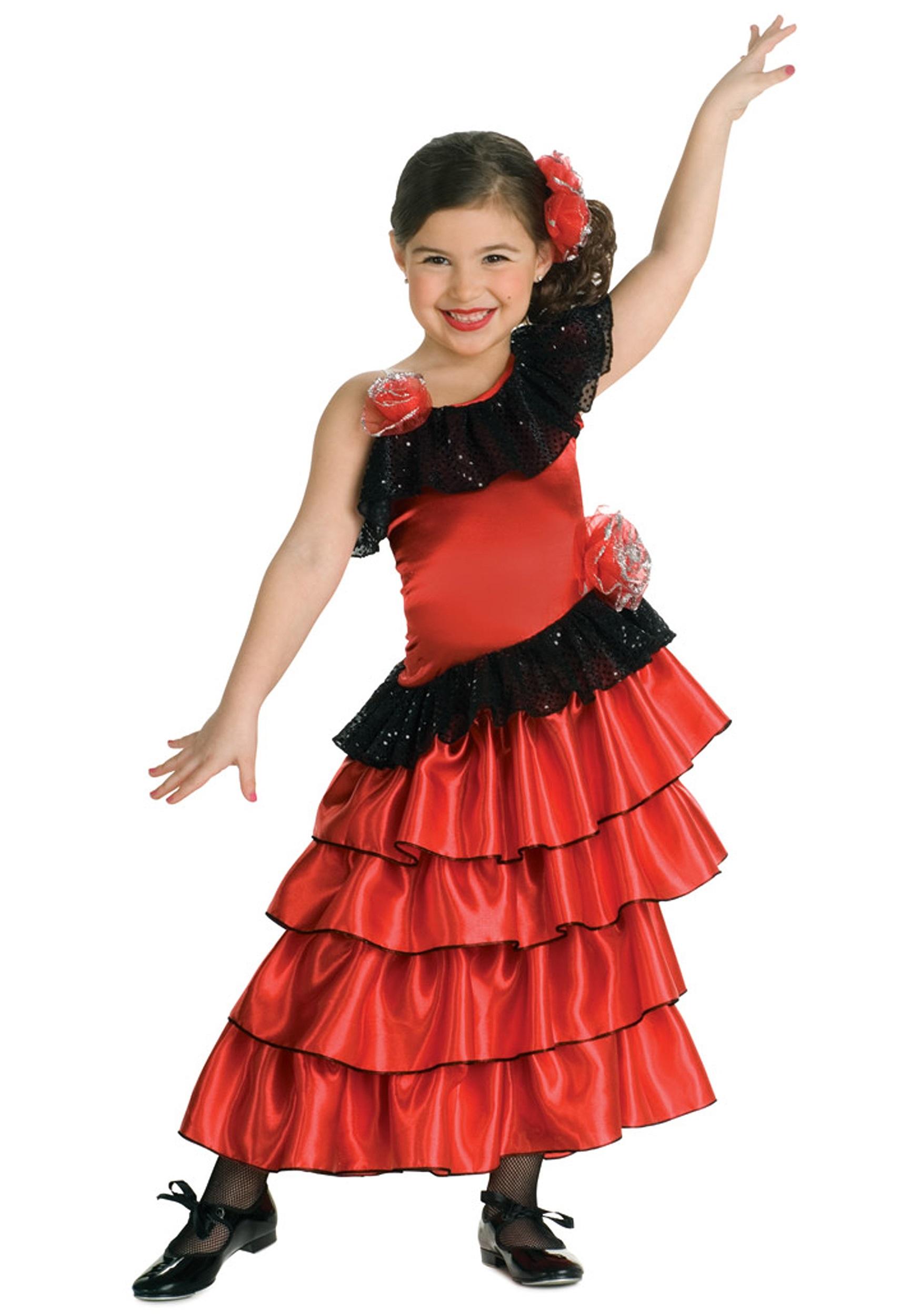 62f072a46ed9 Child Spanish Flamenco Dancer Costume- Spanish Flamenco Dancer Costume