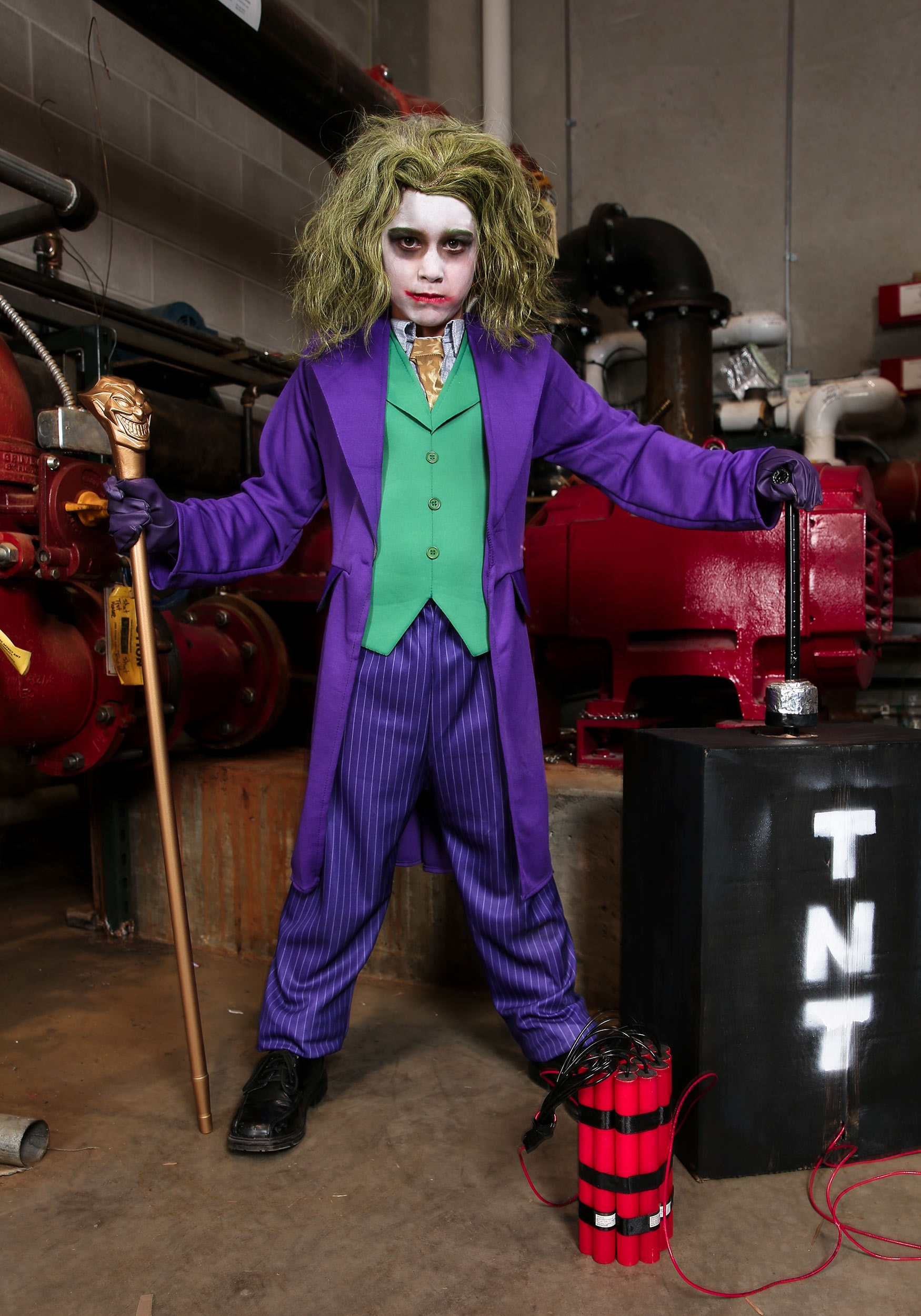 Deluxe Boys Dark Knight Joker Costume Kids Batman Joker