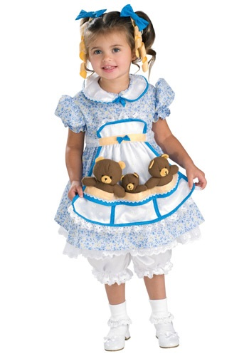 Child Fairytale Goldilocks Costume