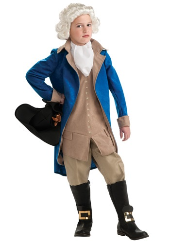 Kids Colonial George Washington Costume