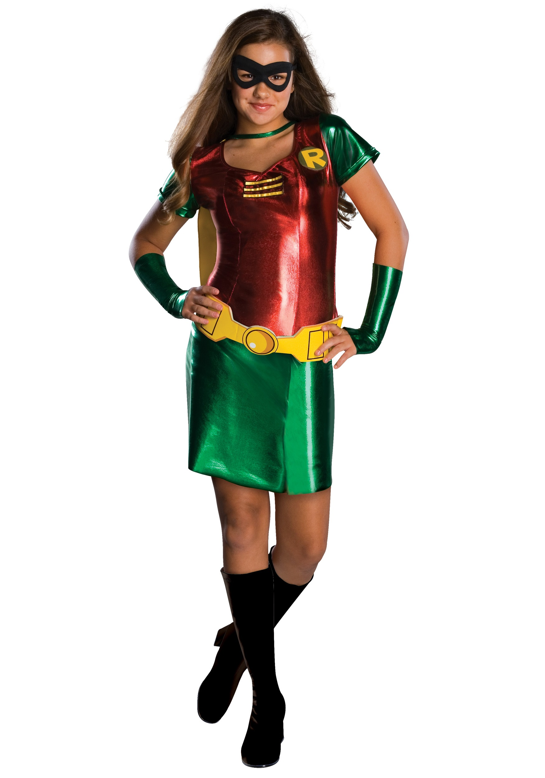 Tween Robin Girl Costume  sc 1 st  Halloween Costume : toddler batman and robin costumes  - Germanpascual.Com