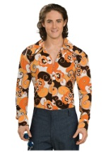 Orange Paisley Disco Shirt