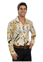 Yellow Paisley Disco Shirt