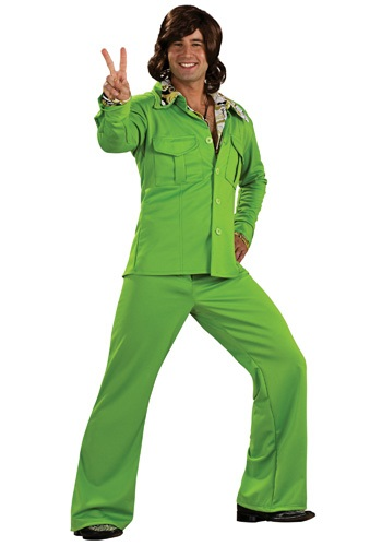 70s Style Green Leisure Suit