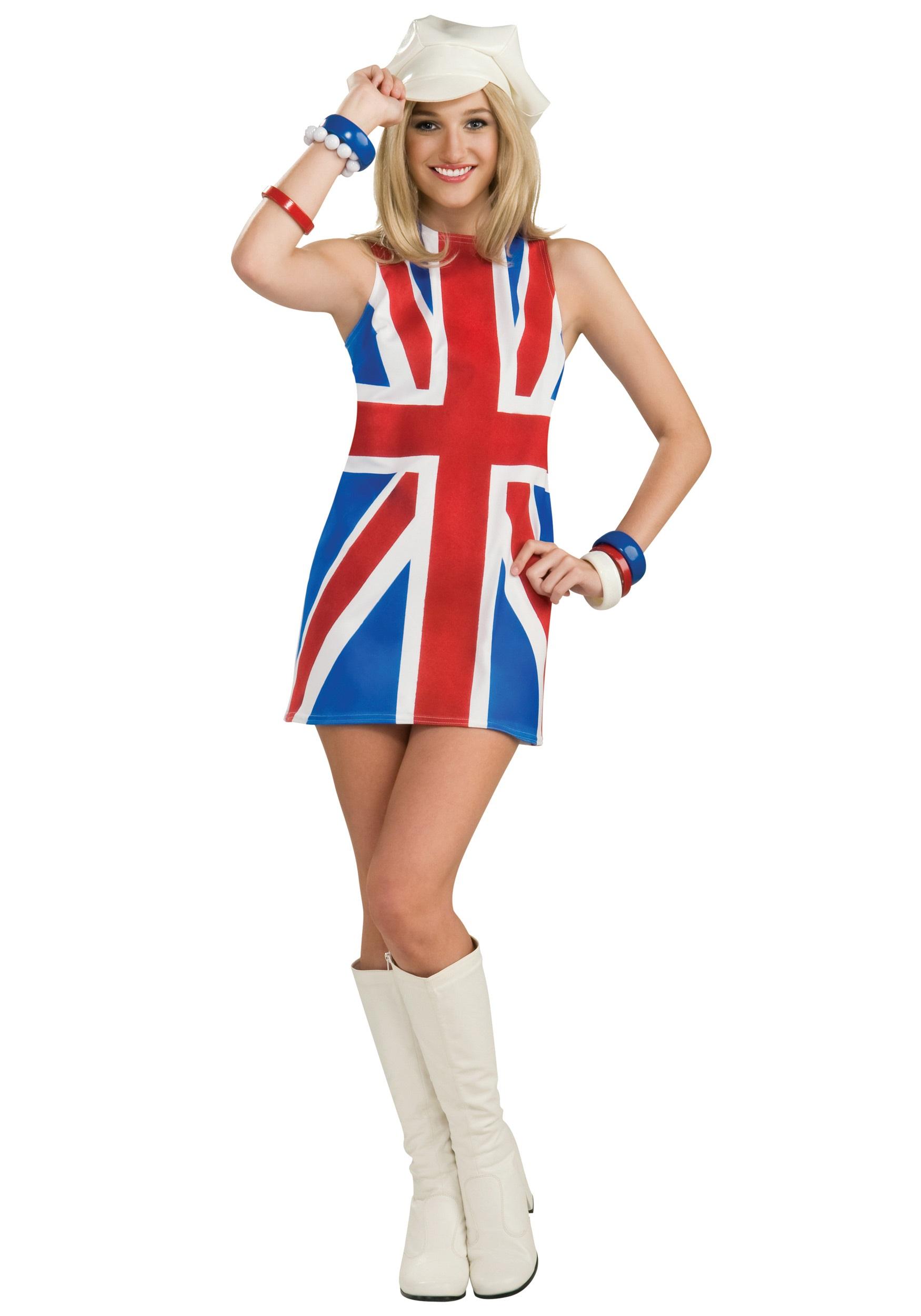 Sexy Womens British Invasion Costume  sc 1 st  Halloween Costume & Sexy Womens British Invasion Costume - Womenu0027s Austin Powers Costumes