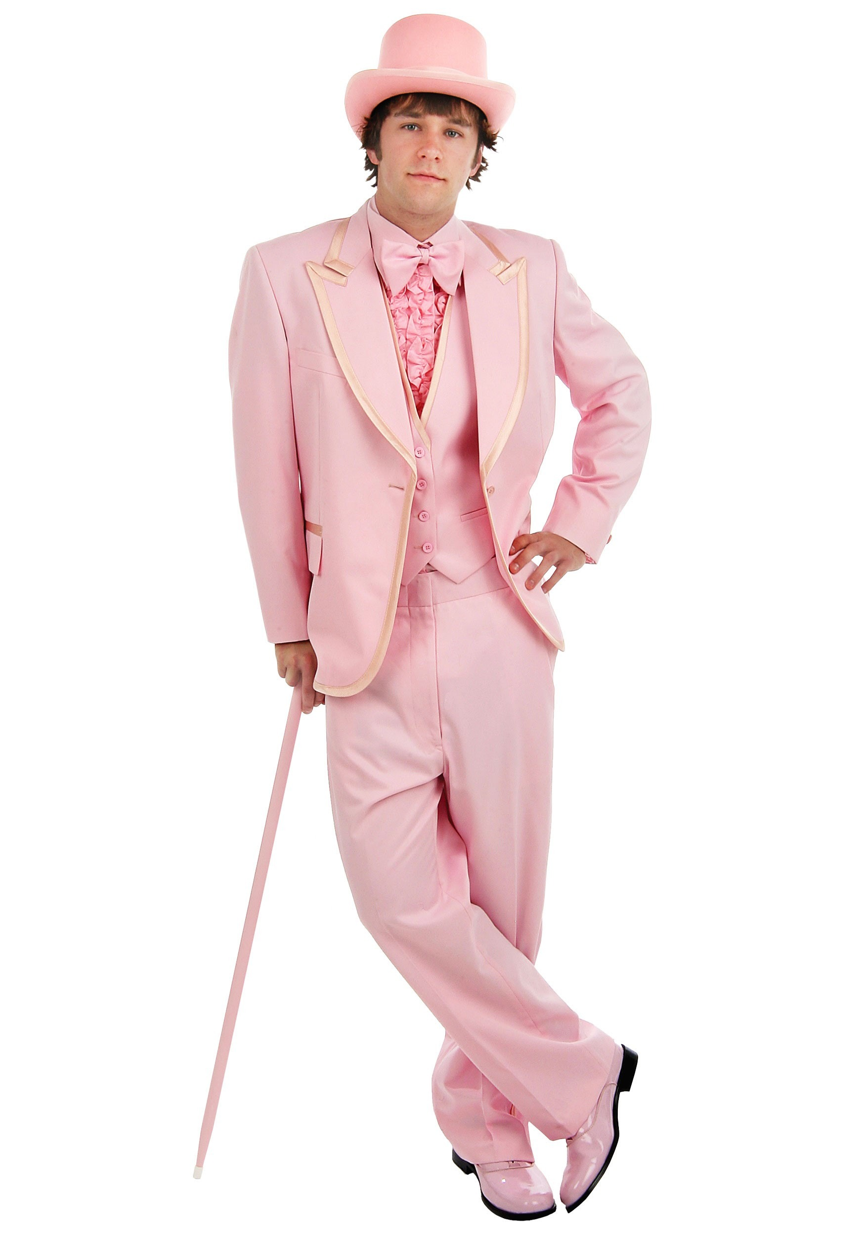 Deluxe Pink Mens Tuxedo - Valentines Day Tux